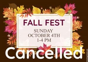 Fall Fest 2020 Cancellation Flyer